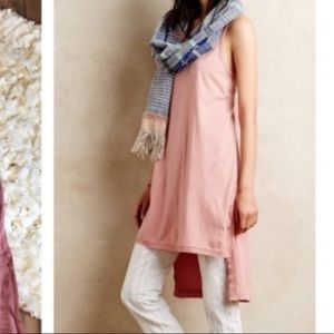Anthropologie pink tunic top